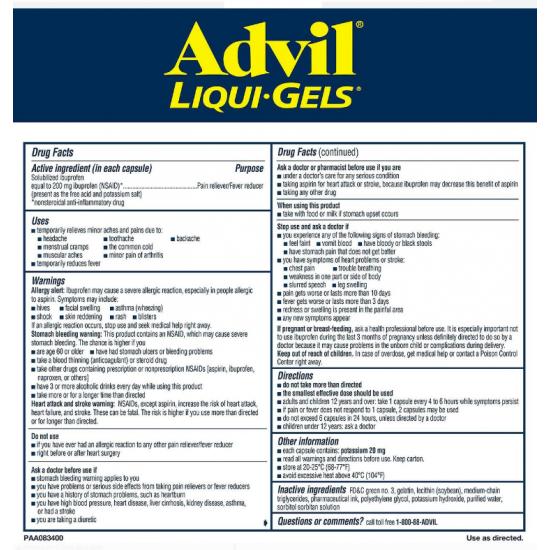 Advil-LiquiGel-애드빌240