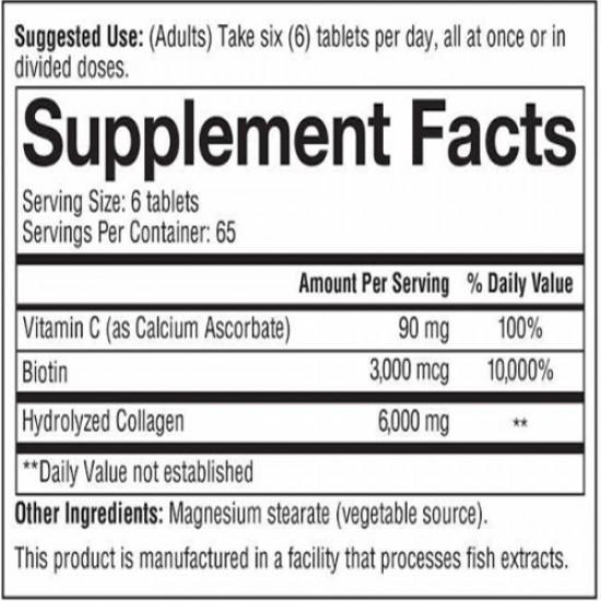 Collagen Plus Biotin, 390 Tablets